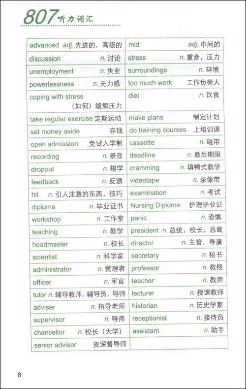 【雅思·资料】王陆807雅思词汇精讲:听力篇(第2版)免费下载地址。