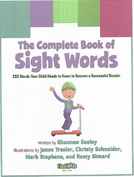 小孩学英语必须掌握的220个词汇书 The complete book of <b style='color:red'>Sight</b> Words云盘下载!