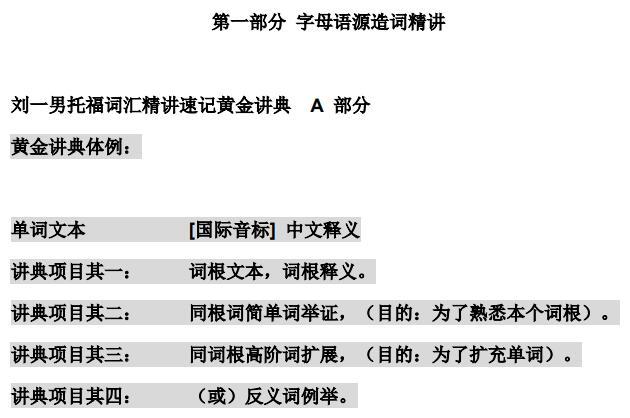 刘一男《托福词汇速记精典》  高清PDF下载(音频+视频)
