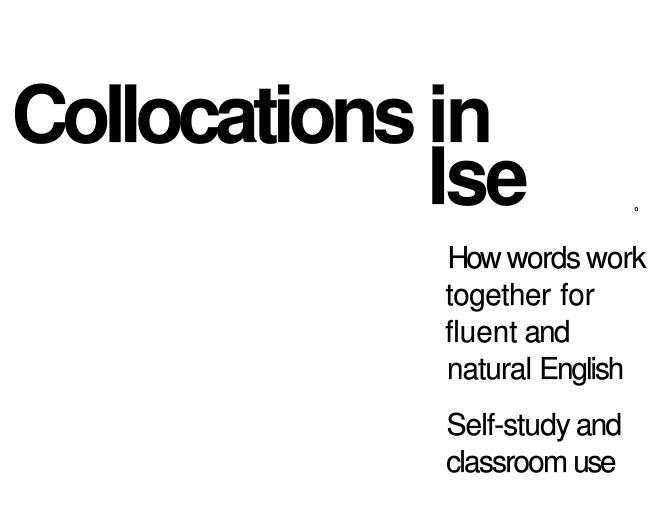 《剑桥英语惯用搭配》中级 English Collocations in Use 下载百度云分享