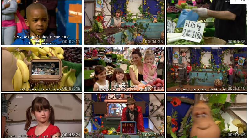合适3~6岁儿童学英语  《布卢姆的菜园 Mr Bloom's Nursery》20集资源共享视频下载!