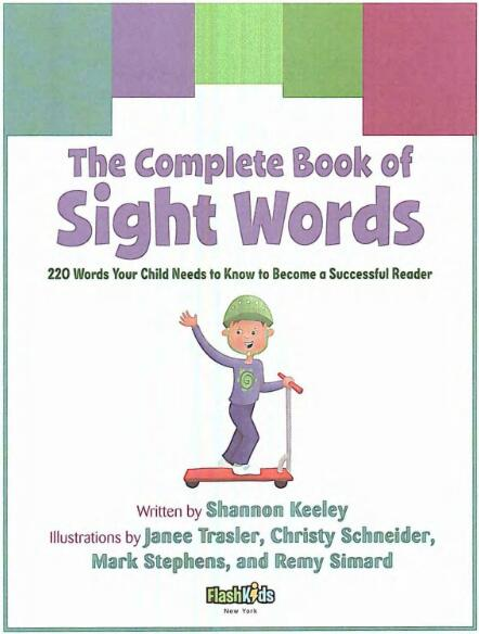 宝宝英语游戏书籍 The Complete Book of Sight Words系列分享!