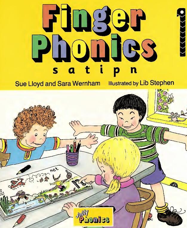 少儿自然拼读学习 《Jolly Finger Phonics Book》7册以PDF下载(电子版+视频)