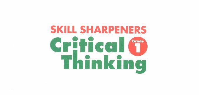 孩子思维能力系统练习书  evan moor critical thinking 全8册免费分享。