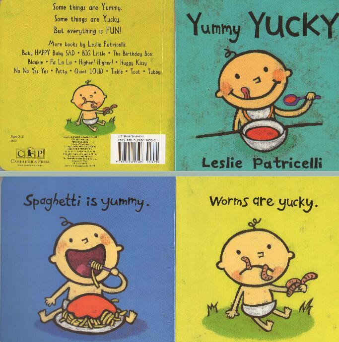 Leslie Patricelli 一根毛系列-Yummy Yucky