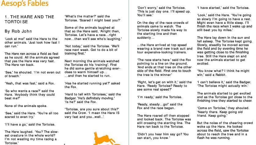 少儿从零开始学习英语教材 《龟兔赛跑》+《青蛙和公牛》分享pdf网盘!