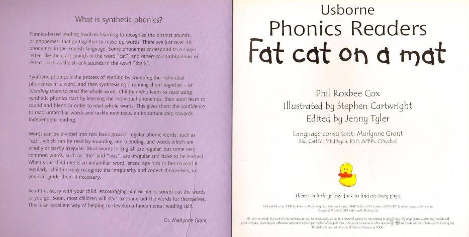 亲子最佳英语读物 usborne 自然拼读经典12册电子课本