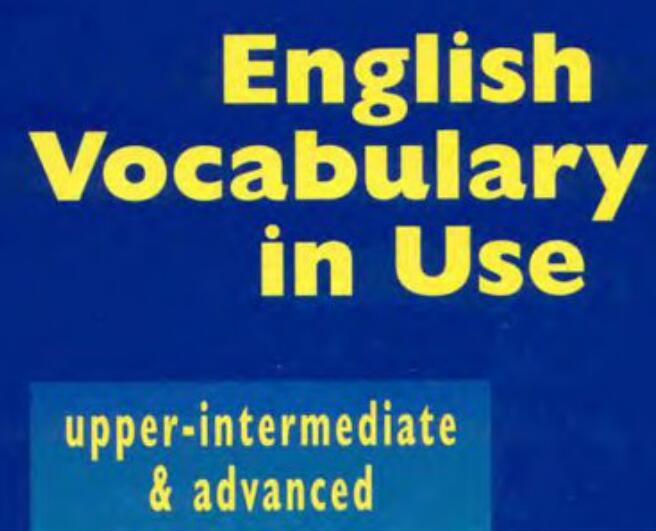 English Vocabulary in Use 剑桥雅思实用英语中高级词汇PDF下载最齐全