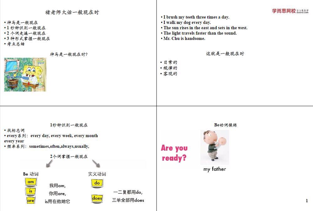 少儿英语语法褚老师讲解 新概念语法一点通建议人手一份!