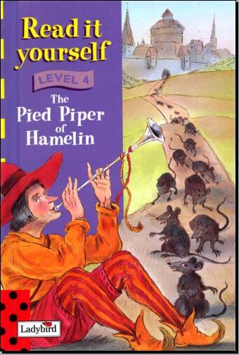 儿童英语杂志瓢虫Ladybird阅读《哈默林的花衣吹笛人》下载网盘分享!