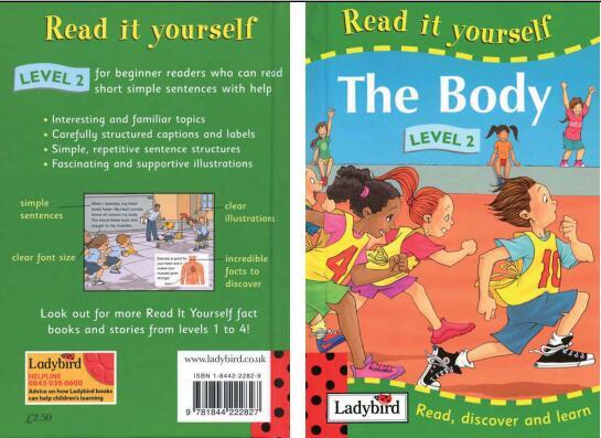 儿童英语杂志  瓢虫Ladybird分级阅读《身体》分享<b style='color:red'>值得</b>入手!