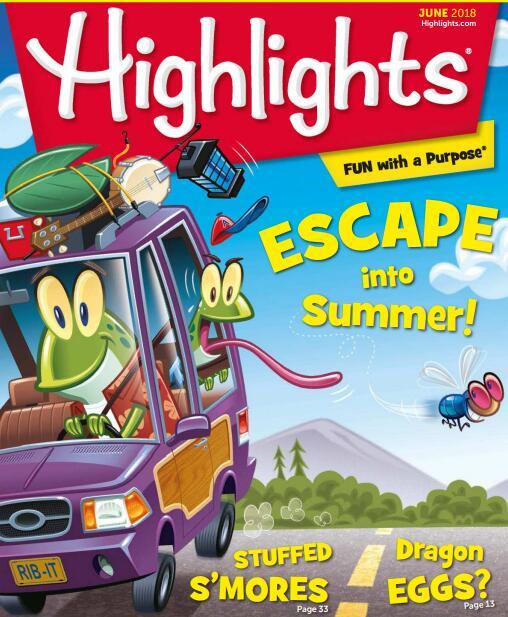 儿童英语杂志 小学生英语月刊highlights-6月刊两份分享免费分享。