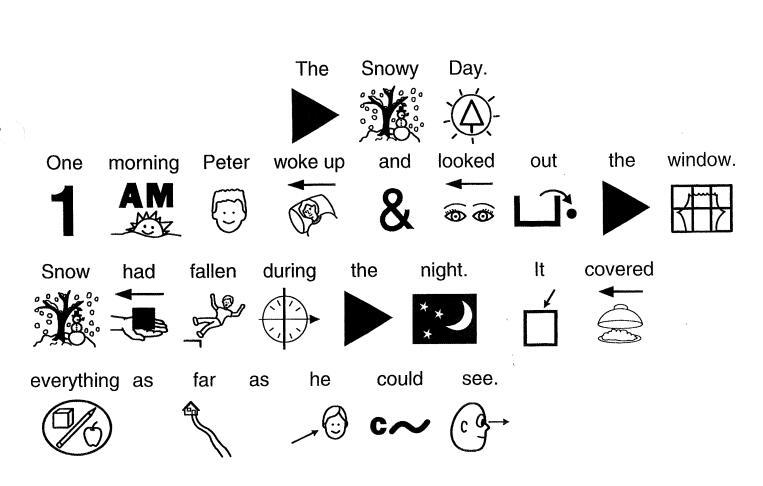 创新儿童绘本--THE-SNOW-DAY用字符绘制的英文绘本百度网盘!