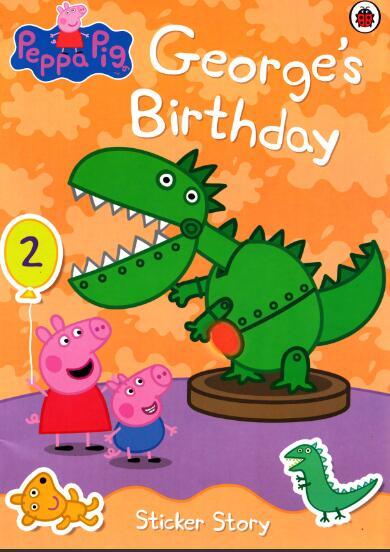 英文版<b style='color:red'>小猪</b>佩奇系列原版绘本《乔治的生日》高清PDF下载必备资源下载!