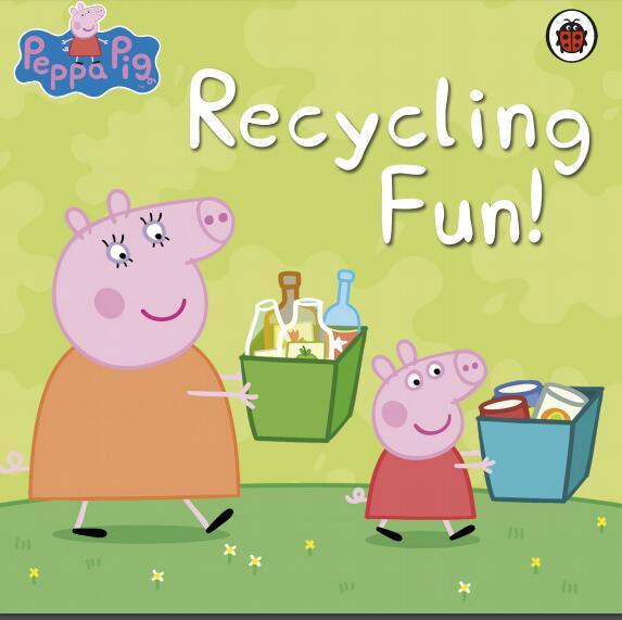 英文版小猪佩奇系列原版绘本《回收的乐趣》高清PDF下载资料大全