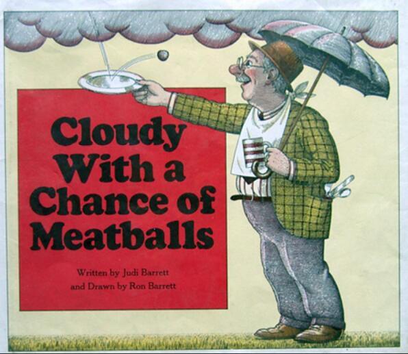 少儿英语绘本-《阴天有时下肉球》---6岁以上儿童适用