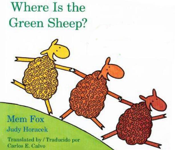 少儿英语绘本---绿色小羊去哪里了-适合5岁以下儿童百度网盘!