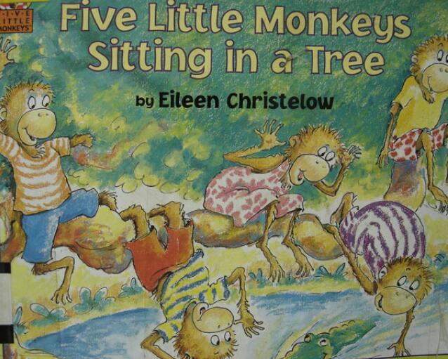 《Five little monkeys jumping on the bed-五只小猴子在床上蹦跳》MP3+MP4+PDF免费分享。