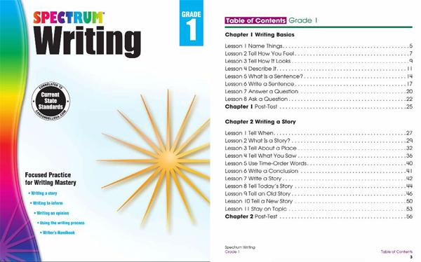英语写作练习册 Spectrum Writing Workbook 引导孩子开始英文写作电子版分享!
