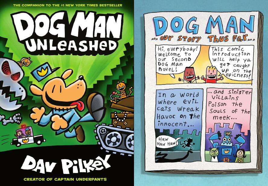 少儿英语作家戴夫经典作品 dog man 英文原版六册全电子课件