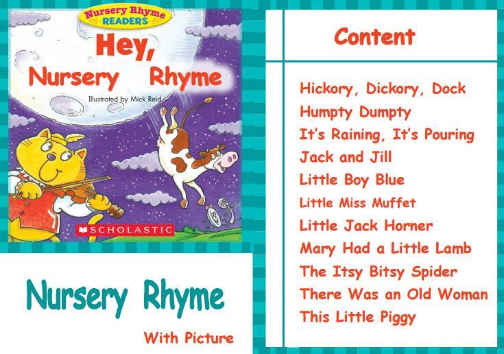 Scholastic Nursery Rhyme Readers 高清10本合集 美国经典的儿歌推荐资源下载