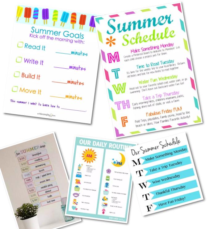 超全美国孩子暑假时间管理表,速来领取!需要的赶快拿。