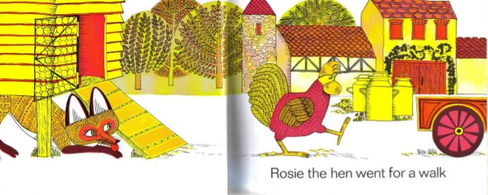 3~8岁儿童英语绘本《母鸡萝丝去散步 Rosie's Walk 》MP3+视频+pdf免费分享