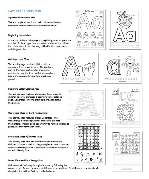 26个字母迷宫 + 字母拼图 高清PDF可打印