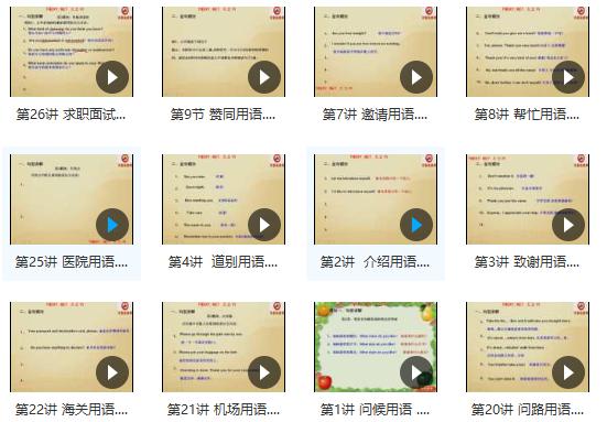英语口语学习大全(日常生活、出国旅游口语)视频赶快收藏!