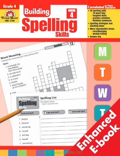 <b style='color:red'>小学英语</b>拼写技能练习册(building spelling skills )4年级百度云下载