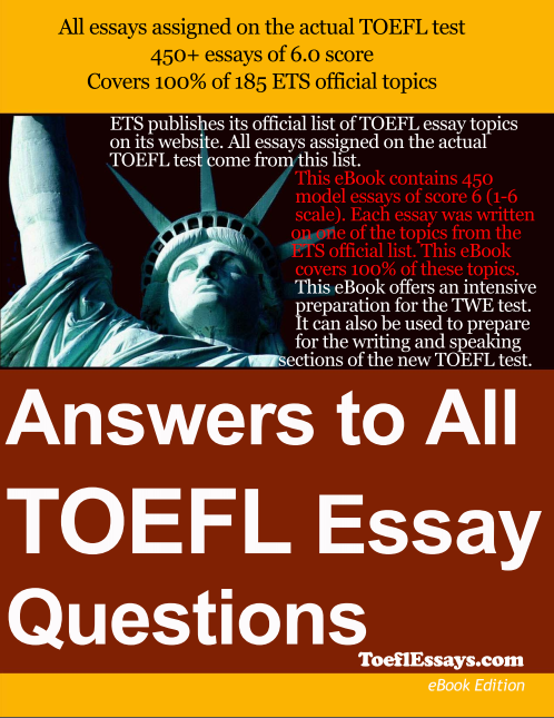 原汁原味托福写作《Answers to all TOEFL Essay Questi》PDFpdf下载!