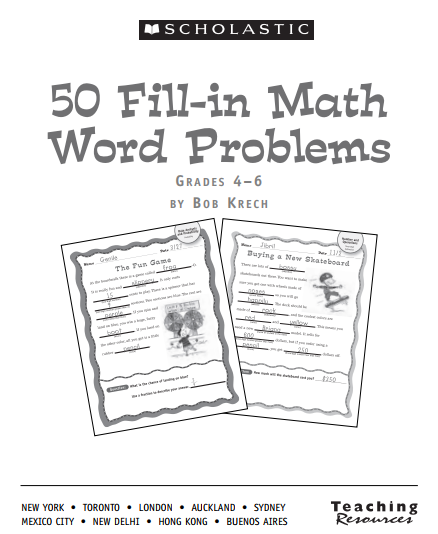 英文原版数学题 50 Fill in math problems