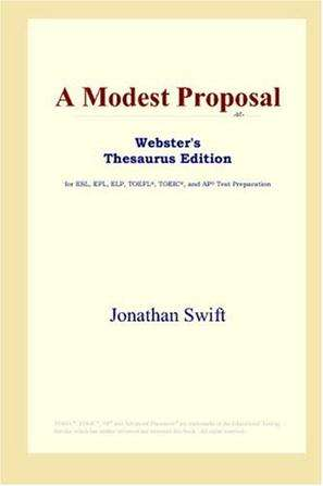 英文原版电子书 A Modest Proposal 一个小小建议PDF下载