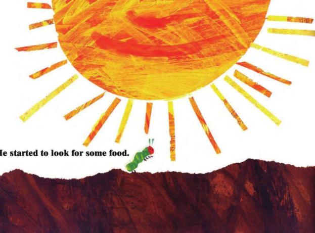 创意英文绘本The very hungry caterpillar(好饿的毛毛虫)免费分享。
