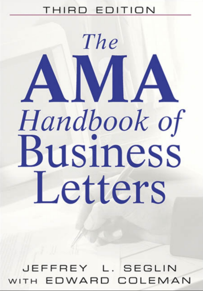 英文原版书 (商务英语)Amacom The AMA Handbook of Business Letterspdf下载!