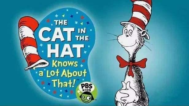 适合4-7岁儿童英文动画片《万事通戴帽子的猫》2季54集