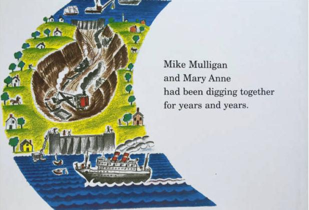 儿童睡前英语故事《迈克马力甘和他的蒸汽挖土机》