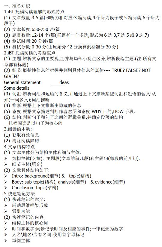 精选147篇托福阅读真题练习+文本+答案解析PDF下载
