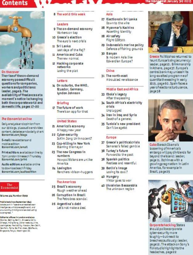 雅思课外阅读杂志《经济学人The Economist》2015年汇总下载资源分享!