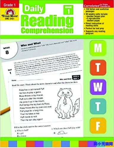 英文<b style='color:red'>原版</b>《Daily Reading Comprehension》1-6年级加州教材你需要吗?