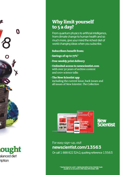 雅思阅读课外杂志《新科学家 New Scientist》2019年8月刊下载你<b style='color:red'>还没有</b>吗?