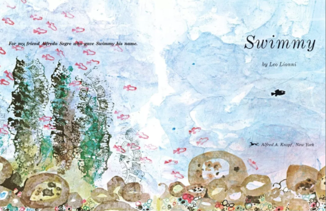 儿童英文儿歌绘本《Swimmy 小黑鱼》PDF阅读音频分享!