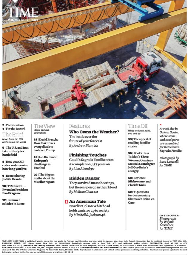考研英语阅读题源《时代周刊》2019年7月刊资源分享需要的赶快拿。