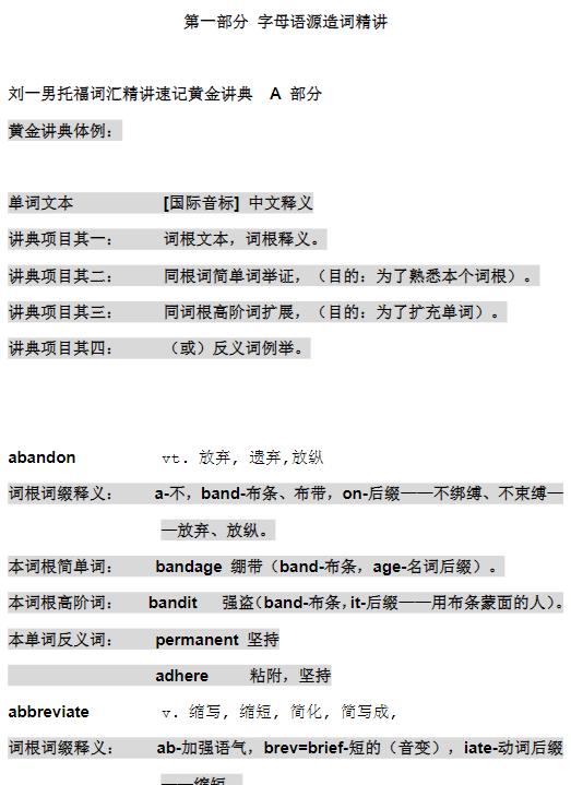 刘一男《托福词汇速记精典》高清PDF下载