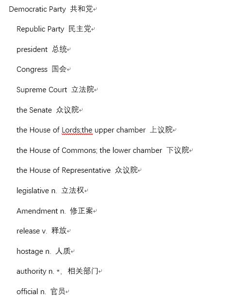 2019年12月四级听力高频词汇:政治类<b style='color:red'>必备</b>资源下载!