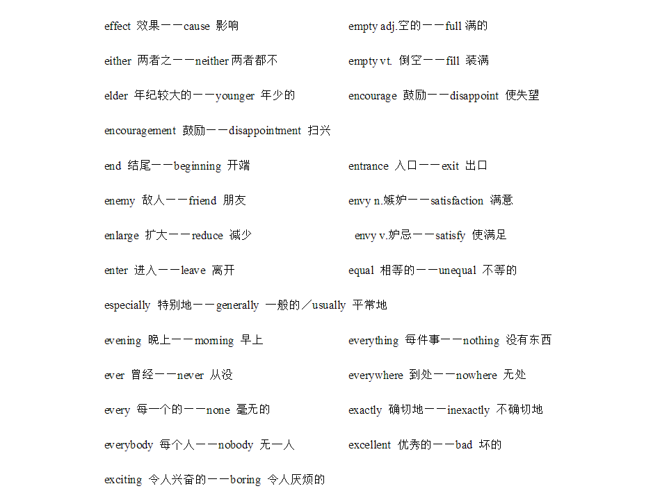 [雅思写作]雅思写作反义词|700多个英语单词的反义词替换!