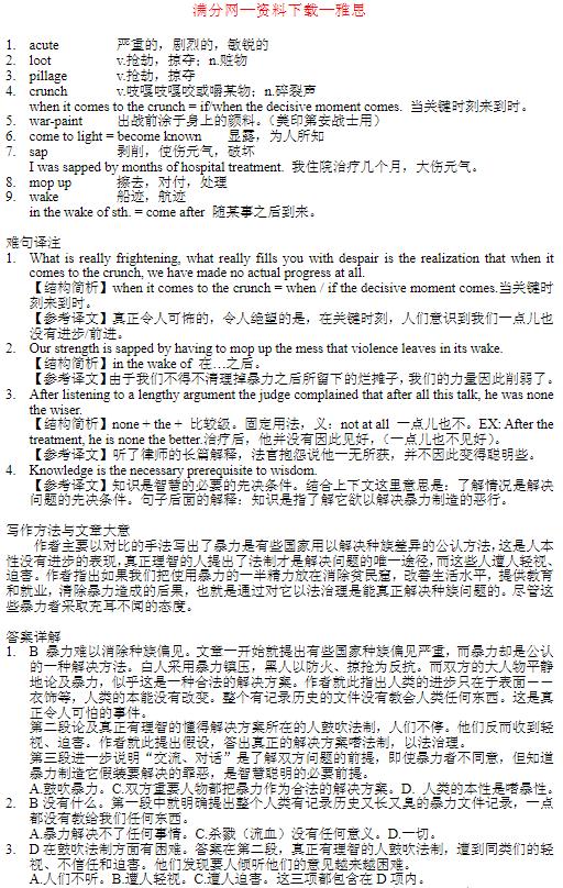 雅思阅读资料|英语100篇精读荟萃(基础+中级+高级)学习分享