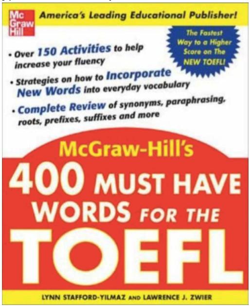 托福官方指南词汇书 400 Must-have Words for the TOEFL音频分享!