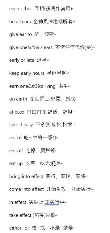 2019年12月英语六级单词短语汇总(2)