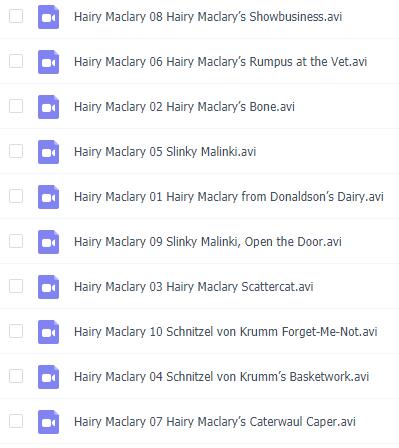 英文动画小故事《毛毛狗Hairy Maclary's》全10集下载电子版下载!